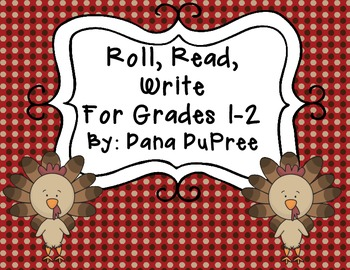 Roll, Read, Write--Thanksgiving Grades 1-2
