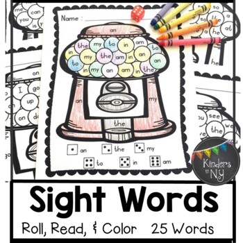 Sight Words: Roll, Read, & Color: Bubble Gum; F&P High Fre