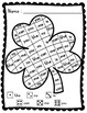 Roll, Read, and Color: Shamrock Sight Words; F&P High Freq