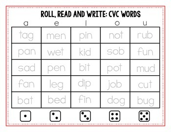Roll, Read and Write BUNDLE!