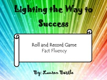 Roll & Record - A fact fluency game (add, subtract, or multiply)