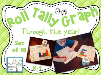 Roll Tally Graph Through The Year BUNDLE set of 18 Graphin