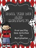 Multiplication Games - Roll The Die And Multiply - Print and Play