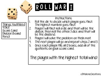 Roll War 1-Division Game