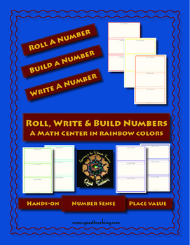 Roll,Write & Build A Number Math Center