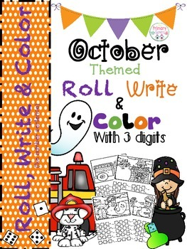Roll, Write (the number sentence) and Color