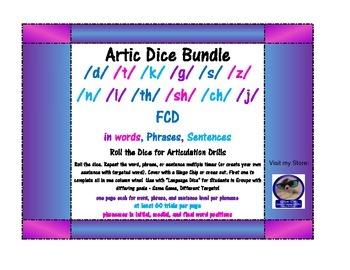 Roll-a-Dice Artic BUNDLE! /d, t, k, g, s, z, n, l, th, sh,