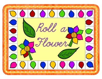 Roll a Flower reinforcement activity