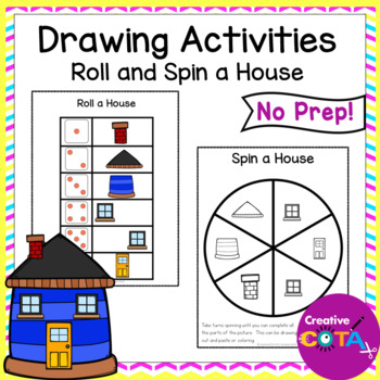 Roll a House  Draw or Cut and Paste