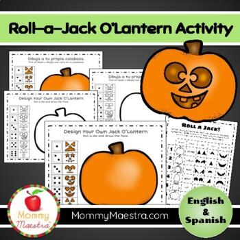 Roll-a-Jack-O'Lantern Activity