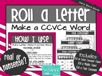 Roll a Letter: Make a CCVCe Word