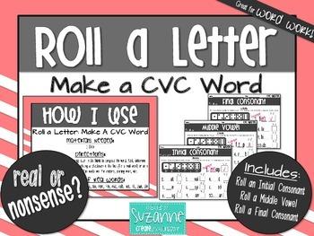 Roll a Letter: Make a CVC Word