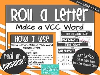Roll a Letter: Make a VCC Word
