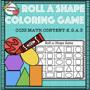 Roll-a-Shape Coloring Game