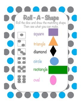 Roll a Shape, Great for Basic Geometry or Math Centres