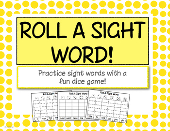 Roll-a-Sight-Word Game