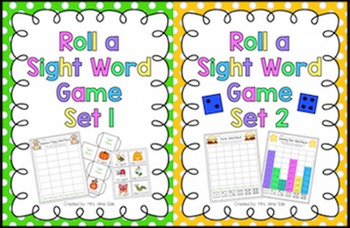Roll a Sight Words Bundle (Editable)