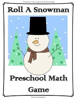 Roll a Snowman Preschool Math Game