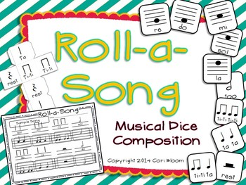 Roll-a-Song Musical Dice Composition: Half Note, Half Rest