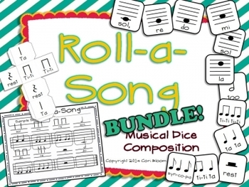 Roll-a-Song Musical Dice Composition:Bundled Set