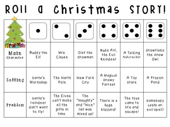 Roll-a-Story: Primary Level Creative Writing Activity {Chr