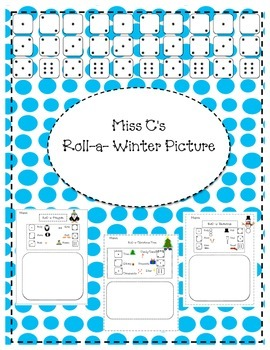 Roll -a- Winter Picture (Santa, Snowman, Penguin, Christmas Tree)