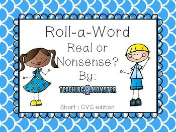 Roll-a-Word Literacy Center Short i CVC words