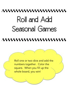 Roll and Add Seasonal Dice Games