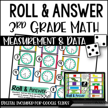 Roll and Answer Math Centers for 3rd Grade Common Core *Me