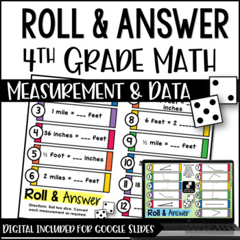 Roll and Answer Math Centers for 4th Grade Common Core *Me