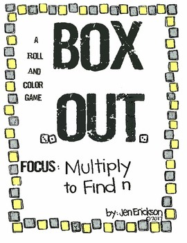 Roll and Color: Box Out! (Multiply to Find n)