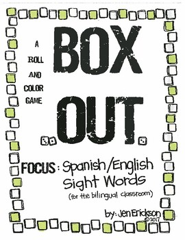 Roll and Color:  Box Out!  (Spanish/English Sight Words)