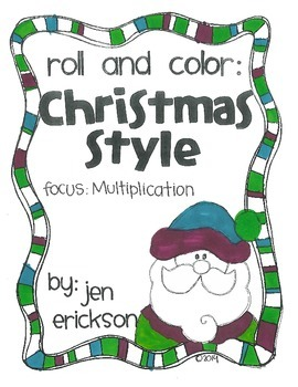 Roll and Color CHRISTMAS STYLE:  Multiplication