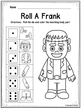 Roll and Color - Roll A Frank Freebie