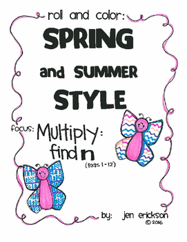 Roll and Color SPRING and SUMMER STYLE:  Multiply Find N