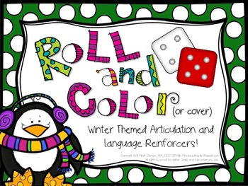 Roll and Color Winter-Themed Articulation and Language Rei