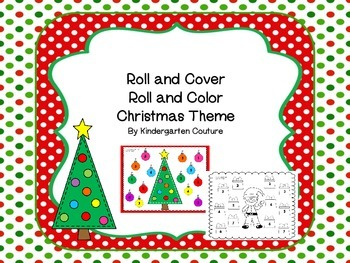 Roll and Color/Roll and Cover Christmas theme