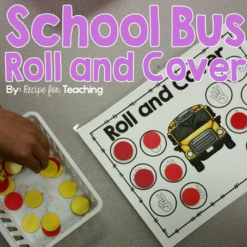 Roll and Cover Games - School Bus Theme