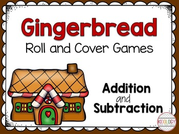 Roll and Cover Games - Gingerbread