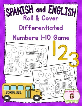 Number Identification 1-10: School Themed Roll and Cover (