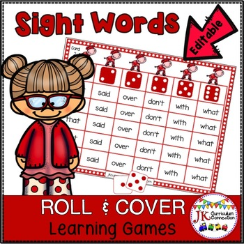 Roll and Cover Sight Word Games – Happy Cows!