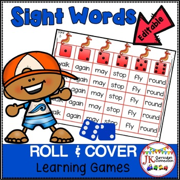 Roll and Cover Sight Word Games – Ocean Friends!