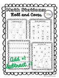 Math Stations: Roll and Cover Numbers