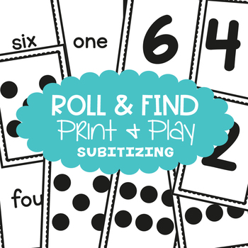 Subitizing Game - Roll and Find - Math Center for Early Number