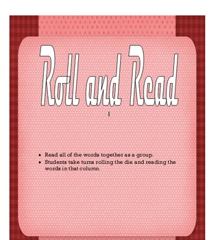 Roll and Read Sight Word Game - Editable