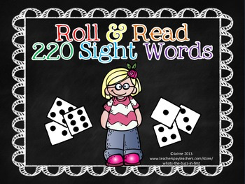 Roll and Read 220 Dolch Sight Words