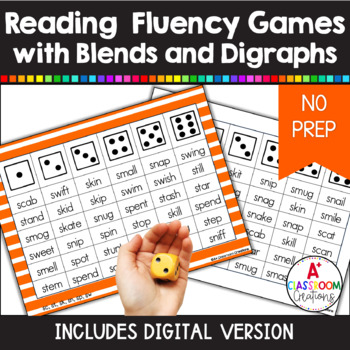 Roll and Read:  Blends and Digraphs