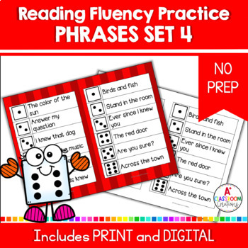 Roll and Read:  Fry Phrases Fourth 100 Words