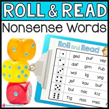 Roll and Read {Nonsense Word} Fluency Practice {Phonics Ga