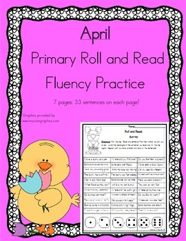 Roll and Read Reading Fluency: April